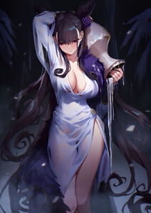 "Murasaki 24""x36"" Canvas Art Poster Decor Wall Prints Card Tube Packing"