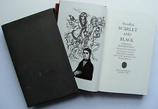 SCARLET AND BLACK 1966 Stendhal Folio Society slipcase illustrated VGC FS