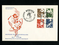 Germany Rare First Day Stamp Cover 698-71 Traffic Exhibition