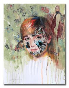 Pop Art, Contemporary Art, Portrait, Oil, Acrylic & Collage on Paper, Comics