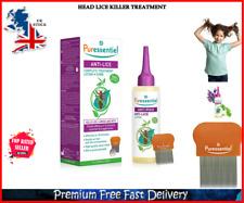 Proven Kills Lice Larvae Nits Head Lice Killer Treatment Lotion Comb 100ml UK