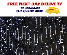 3 x 3 White LED CURTAIN Party Light Wedding Backdrop Table Skirt Cloth Stairligh