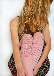 Alice in Wonderland Printed Tights , Design Tights With Text , Literature Fashio