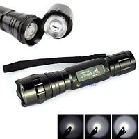 WF-501B 8000LM CREE XM-L T6 LED 18650 Flashlight 5-Mode Torch Lamp Light MTC