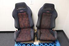 JDM MITSUBISHI EVOLUTION IV 4 EVO 4 IV OEM RECARO SRD SEAT SET with RAILS