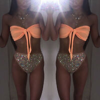 Women's Bandage Bikini Set Push-up Padded Bra Swimsuit Bathing Suit Swimwear CA
