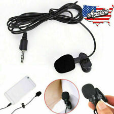 3.5mm Mini Clip-on Lapel Lavalier Microphone Recording Mic for Cell Phone Laptop