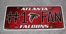 ATLANTA FALCONS NFL FOOTBALL SPORTS #1 FAN METAL LICENSE PLATE