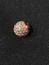 Rose Gold Plated Pave Crystal Ball Charm by Hearts of Pandora's Box