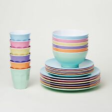 Barel Classic 24 Piece Melamine Dinner Set 'Dream' - Tumblers, Plates, & Bowls