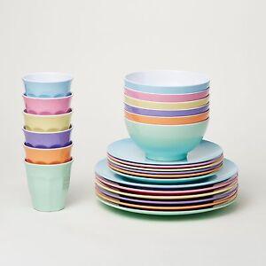 Barel Classic 24 Piece Melamine Dinner Set 'Dream' - Tumblers, Plates, & Bowls