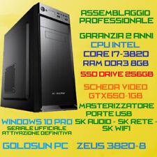 PC FISSO DESKTOP INTEL Core i7-3820 RAM 8GB SSD256GB DVD-RW GTX650-1GB