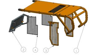 Sweeps and Screens Set fits CAT D8T Bulldozer