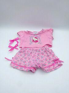 Build A Bear Hello Kitty Kleidung 2-teilig Schlafanzug Pyjama