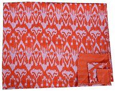 Indian Handmade Queen Kantha Quilt Cotton Bedspread Reversible Blanket Throw Art