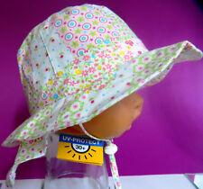 UV Schutz KU 40 41 42 43 44 45 46 47 Nackenschutz Sommer Sonnen Hut Mädchen rosa