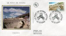 FRANCE FDC - 2956 1 LE PONT DE NYONS - 20 Mai 1995 - LUXE sur soie