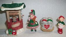 Hallmark Merry Miniatures Christmas Lot Madame Alexander Elf Baby's 1St Together