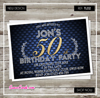 40th 50th 60th 30th 21st Personalised Birthday Invitations Party Invites