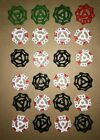 24 - New Old Stock Gate Valve Handles Red White Black Industrial Steampunk Arts