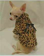 Dog Coat/Dog Jacket Cheetah Fur Baby Coat/Size Medium Only/Free Shipping