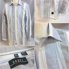 Haupt Long Sleeve Shirt M Blue White Stripe Made Poland NWOT YGI 5441