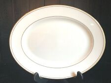 """Lenox FEDERAL GOLD 13 1/4"""" Oval Serving Platter Tray China Classics Collection"""