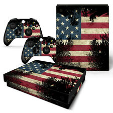 Xbox One X American Flag Console & 2 Controllers Decal Vinyl Skin Sticker XBX