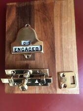 Vintage Vacant Engaged Railway Toilet Lock Engaged Dis Engaged Rare Circa 1880