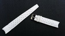Stylecraft 11319 vintage White Rubber curved 19mm Swiss Tropic Diver watch strap