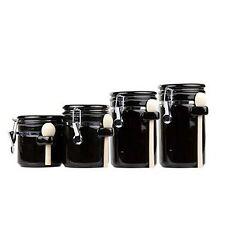 Home Basics CS44153 4Pc Ceramic Canister Set W/Spo NEW