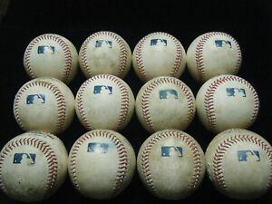 12 MLB game used (rubbed up) baseballs 2021 BP