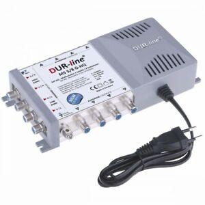 DUR-line MS 5/8 G-HQ Sat Multischalter 8 Teilnehmer | stromsparendes Netzteil