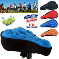 Cycling Bicycle Bike Silicone Saddle Seat Cover Silica Gel Cushion Soft Pad