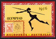 1956 Melbourne Olympics CYCLING postcard MINT.RARE