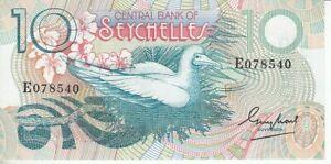 Seychellen  10 Rupien       kassenfrisch