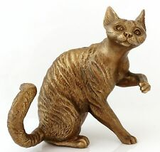 Devon Rex Cat Bronze Figurine Russian Art Sculpture Animal Statue 4""
