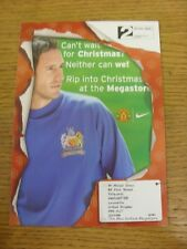 2005/2006 Manchester United: Official Club Shop Christmas Megastore Advertising
