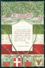 Militari 63º 64º Reggimento Fanteria Brigata Cagliari cartolina XF5222