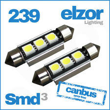 2 X 39mm 3 Smd Led 239 272 C5w Canbus No Error Interior Light Festoon Bulb White