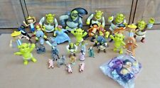 Dream Works Shrek Figure Lot 32 Plastic Figures Fiona Pinocchio Gingerbread Man