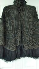Antique Victorian ladies mourning cape, in black lace.