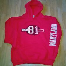 HELLS ANGELS support maryland 81 sweatshirt red&white