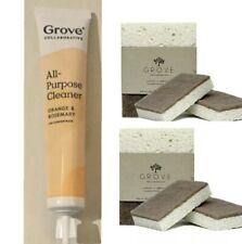 Grove Walnut Scrubber Sponge All Purpose Cleaner Orange Rosemary Concentrate 5