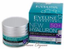 Eveline New Hyaluron 50+ HEBE  Reduzierung Falten CREME-SERUM Tages & Nacht 50ml