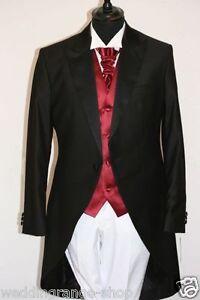 Cut Cutaway Hochzeitsanzug Herrenanzug Oberteil schwarz