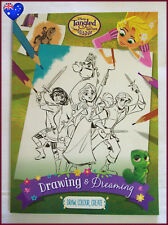 DISNEY TANGLED Colouring - Drawing & Dreaming Book - RAPUNZEL 96pg Colour In NEW
