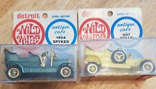 Vintage Detroit Wild Wheels Antique Cars 1907 Rolls Royce(yellow)and 1904 Spyker
