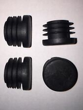 4x Handle Bar End Caps - Robust Plastic Barend Plugs for Bike / Scooter Grips