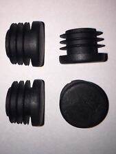 4x Handlebar End Caps - Robust Plastic Barend Plugs for Bike / Scooter Grips